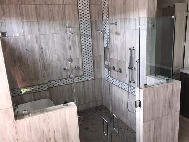 French Door Shower