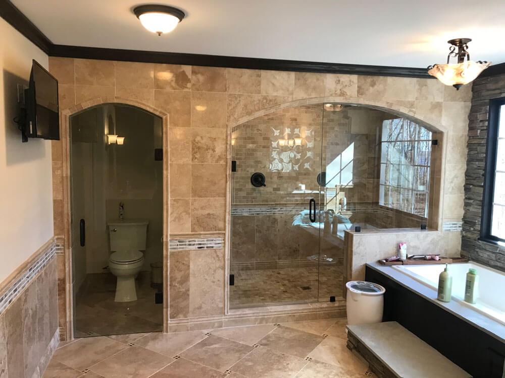 frameless shower encloser